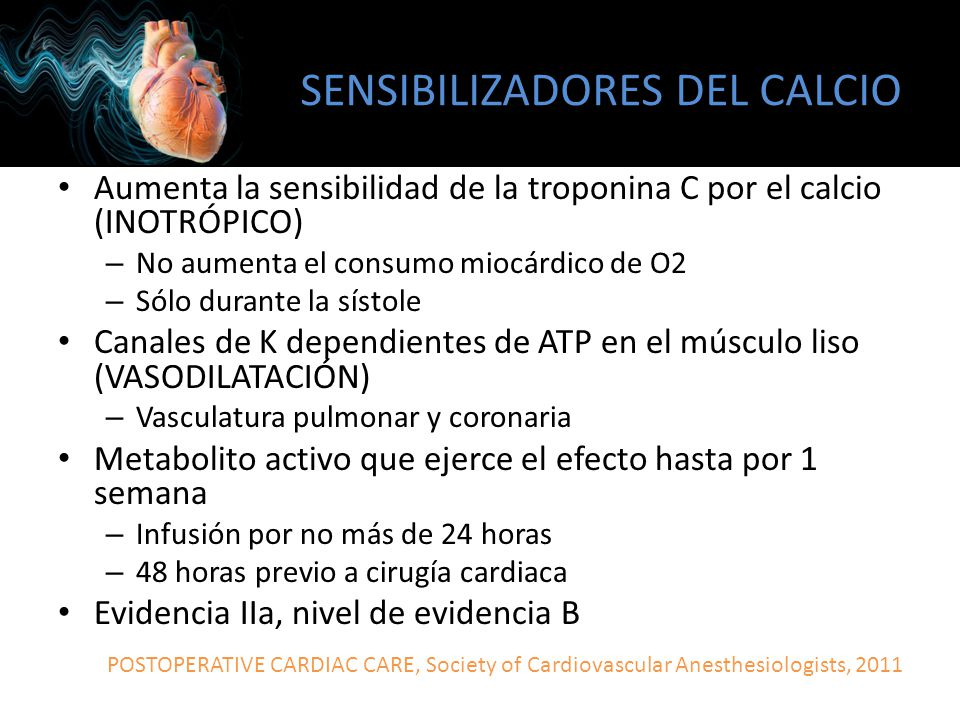 SENSIBILIZADORES DEL CALCIO