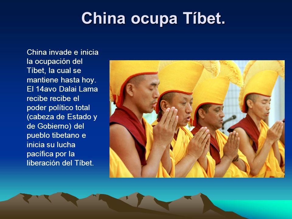China ocupa Tíbet.