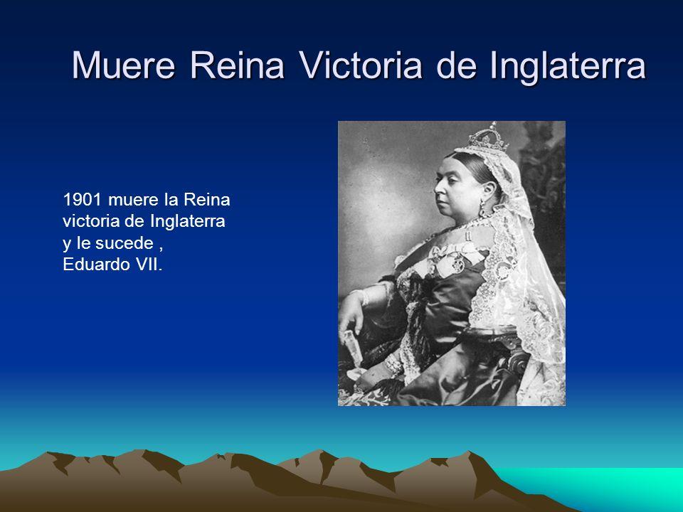 Muere Reina Victoria de Inglaterra