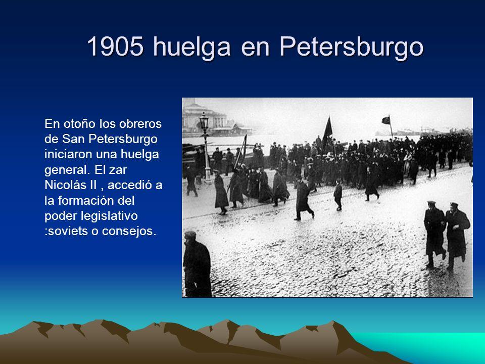 1905 huelga en Petersburgo