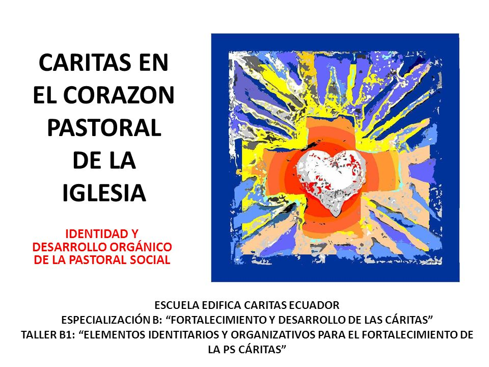 CARITAS EN EL CORAZON PASTORAL DE LA IGLESIA