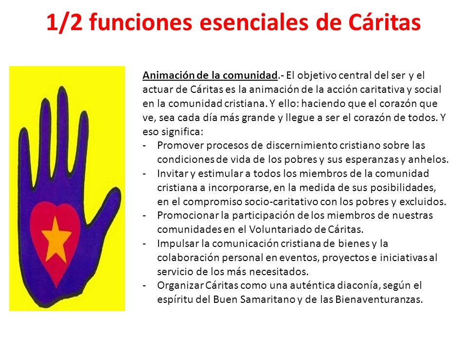 1/2 funciones esenciales de Cáritas