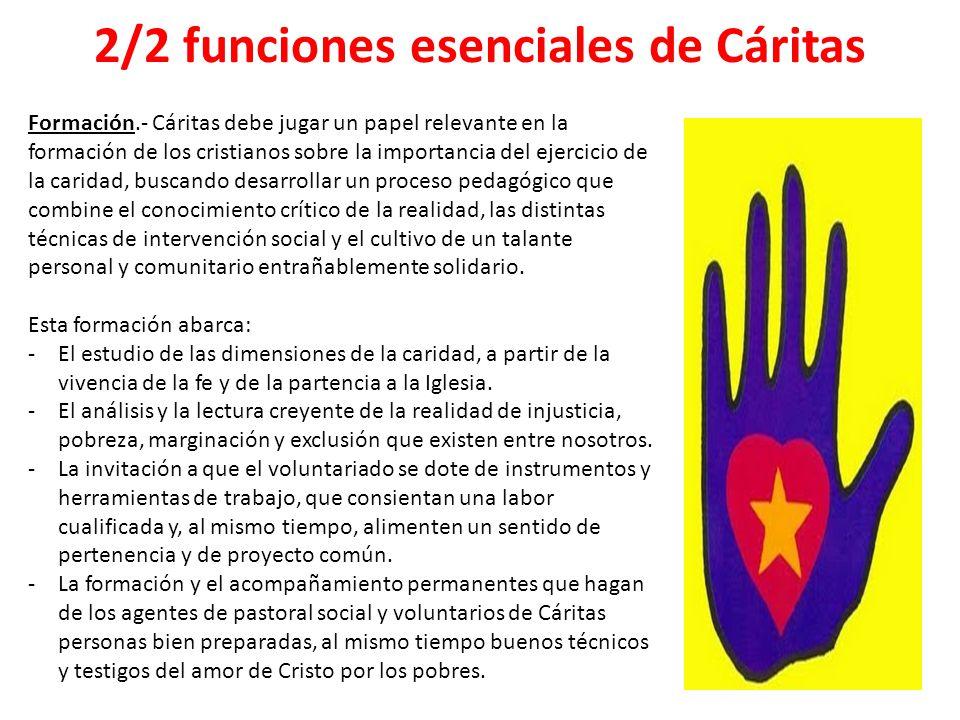 2/2 funciones esenciales de Cáritas