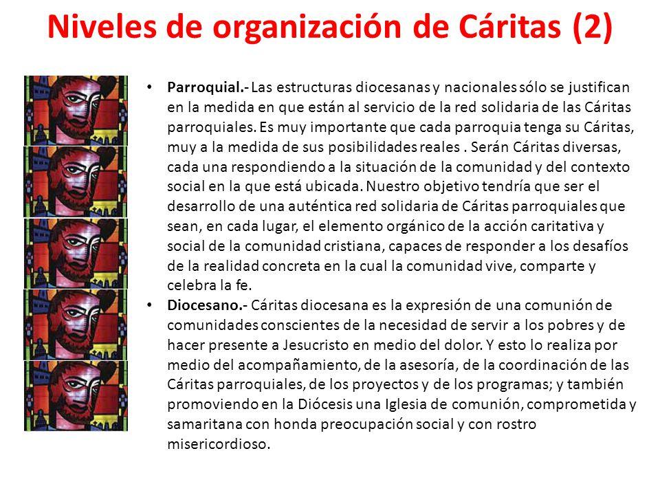 Niveles de organización de Cáritas (2)