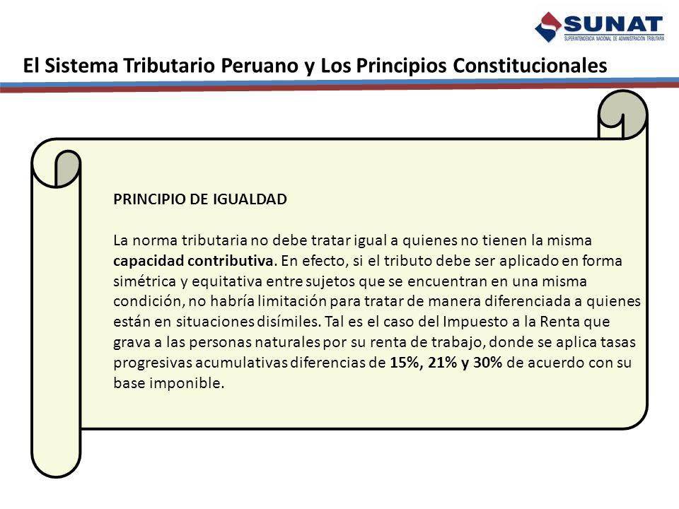 El Sistema Tributario Peruano y Los Principios Constitucionales