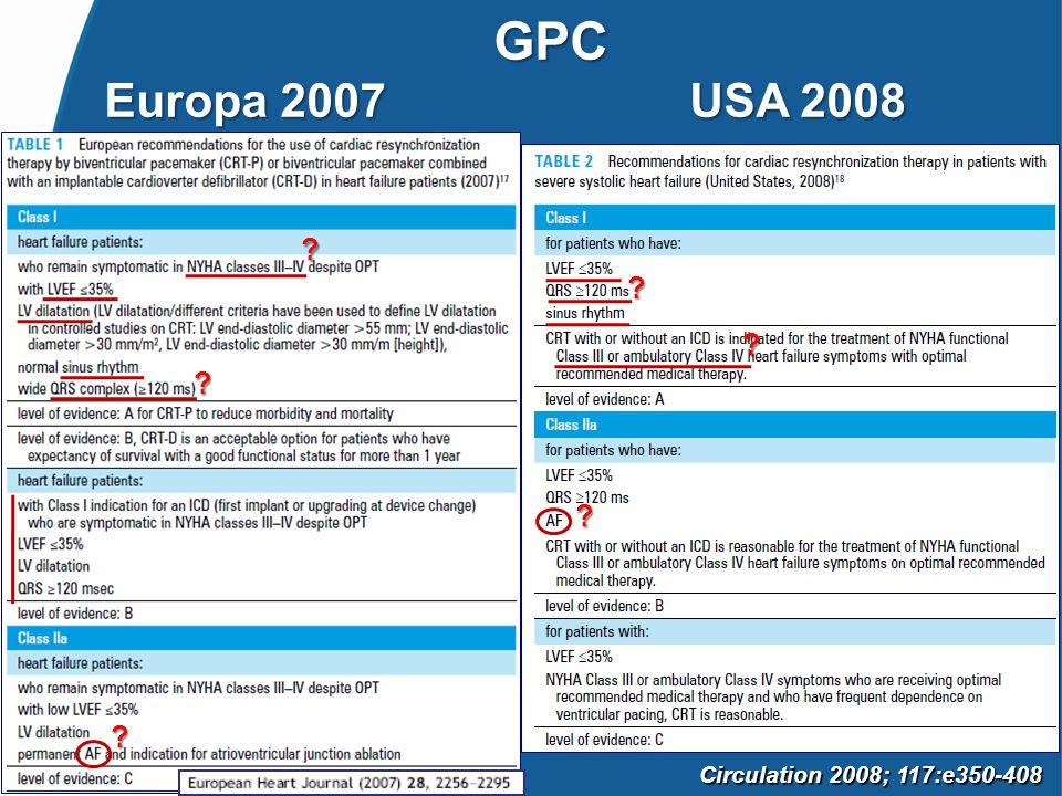 GPC Europa 2007 USA 2008 Circulation 2008; 117:e350-408