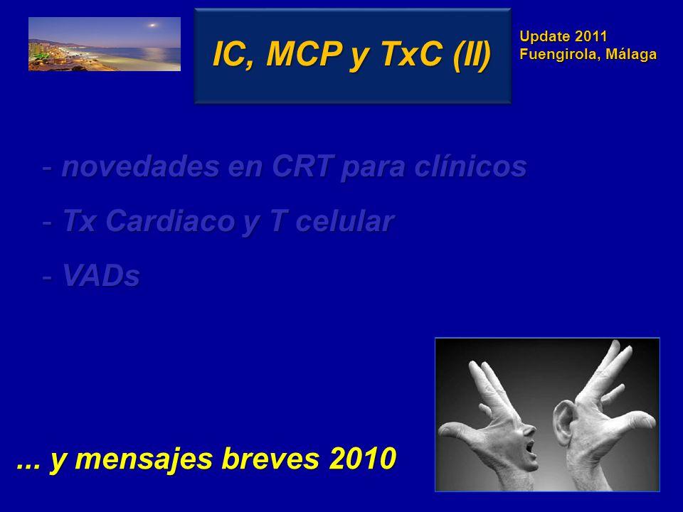 IC, MCP y TxC (II) novedades en CRT para clínicos