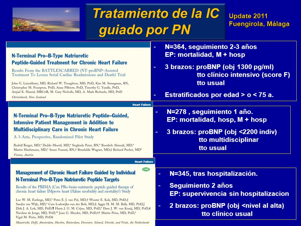 Tratamiento de la IC guiado por PN