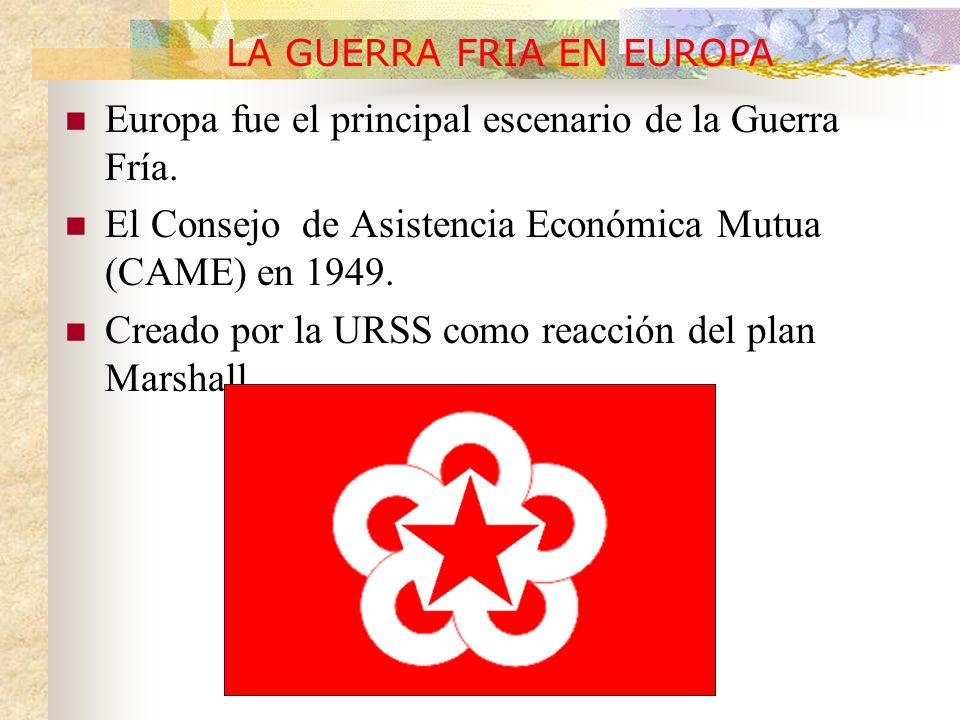 LA GUERRA FRIA EN EUROPA