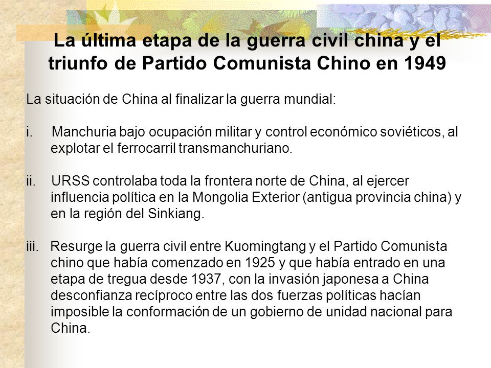 La última etapa de la guerra civil china y el