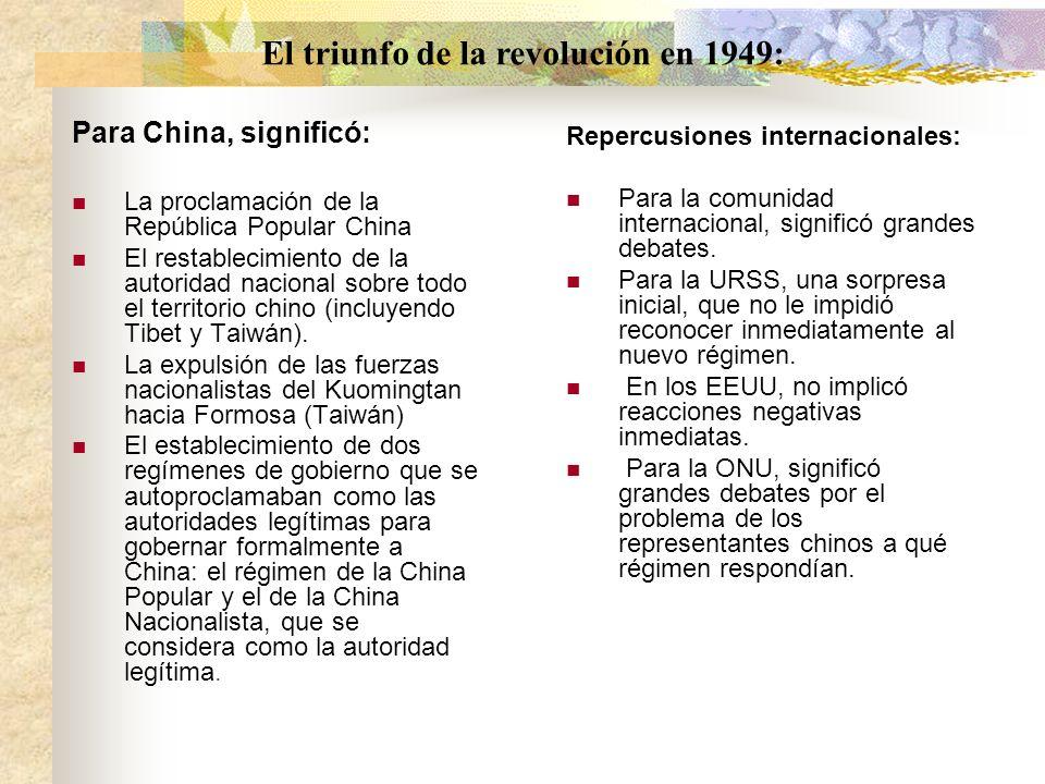 El triunfo de la revolución en 1949: