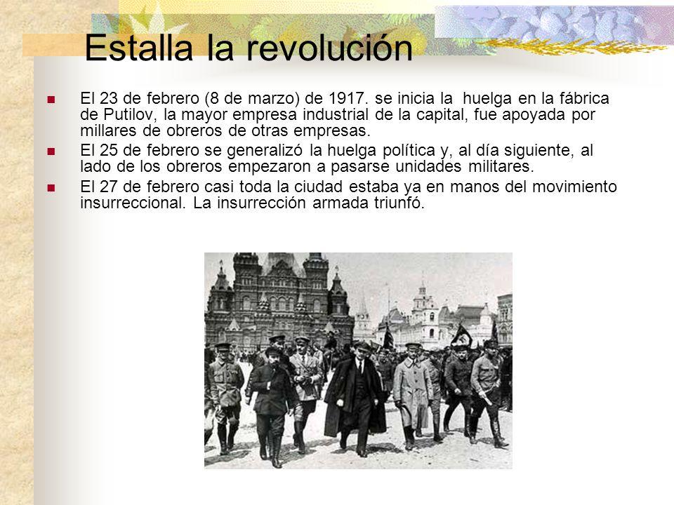 Estalla la revolución