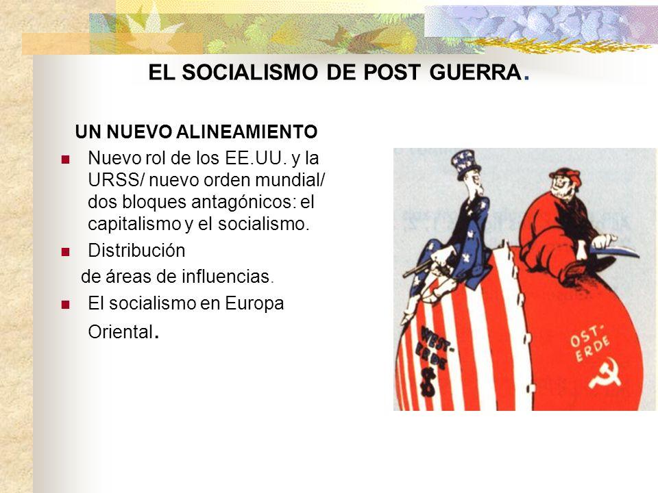 EL SOCIALISMO DE POST GUERRA.