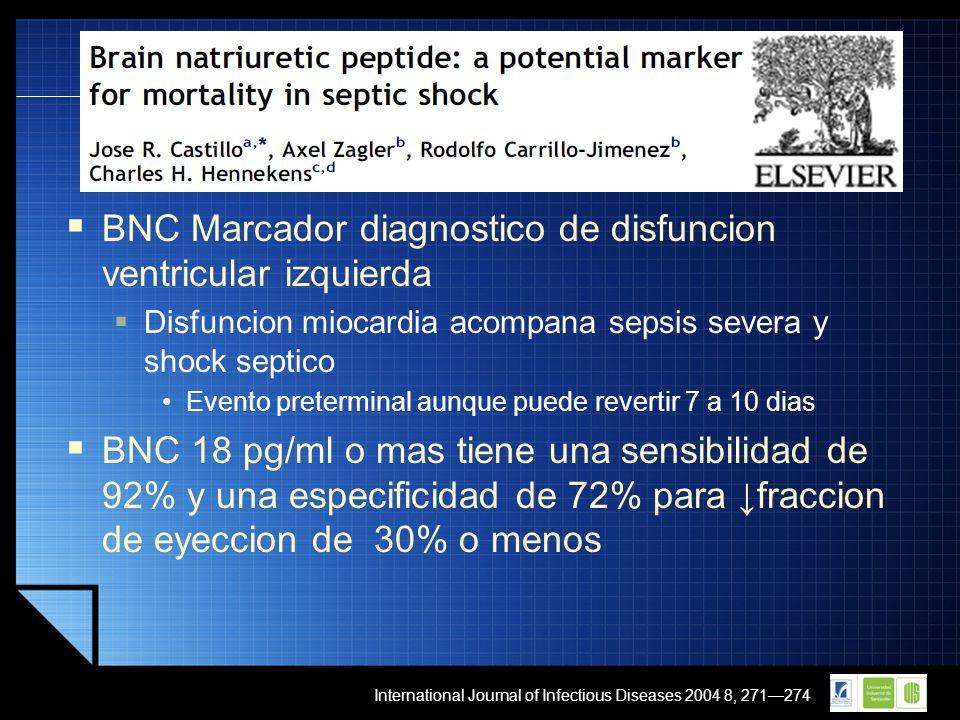 BNC Marcador diagnostico de disfuncion ventricular izquierda