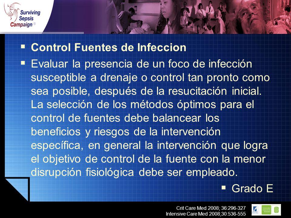 Control Fuentes de Infeccion