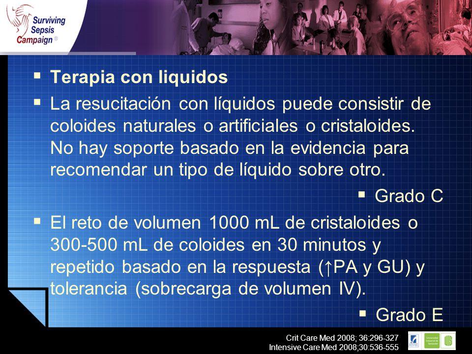 Terapia con liquidos