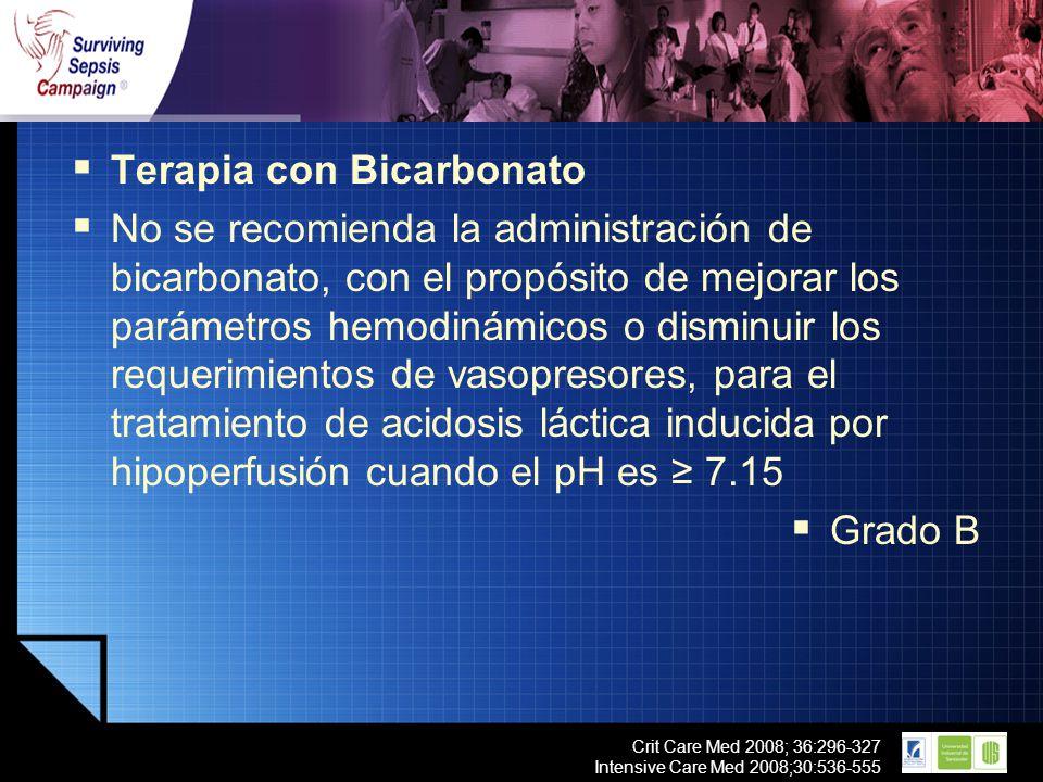 Terapia con Bicarbonato