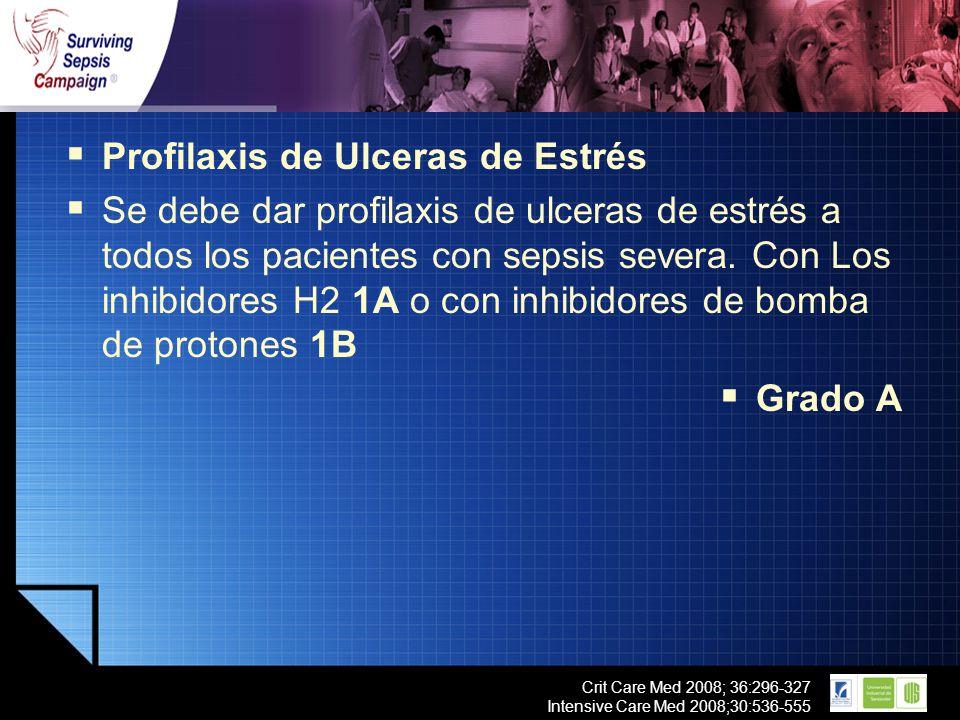 Profilaxis de Ulceras de Estrés