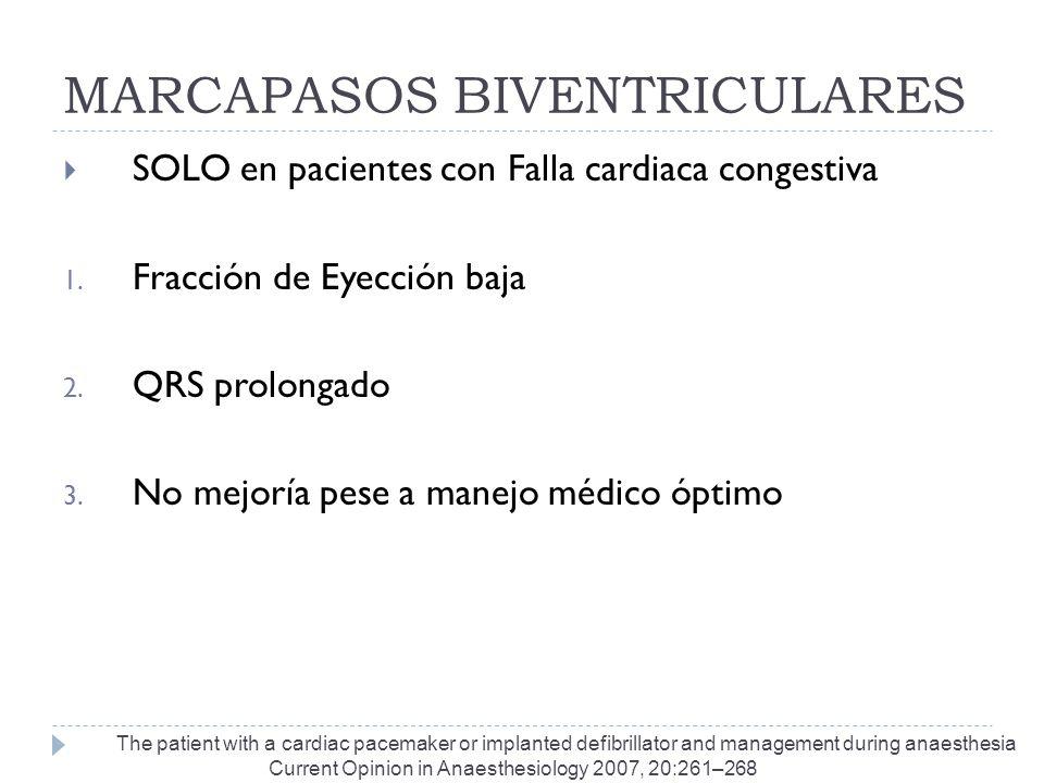 MARCAPASOS BIVENTRICULARES