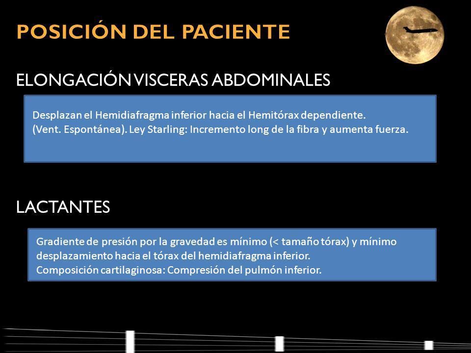 POSICIÓN DEL PACIENTE ELONGACIÓN VISCERAS ABDOMINALES LACTANTES