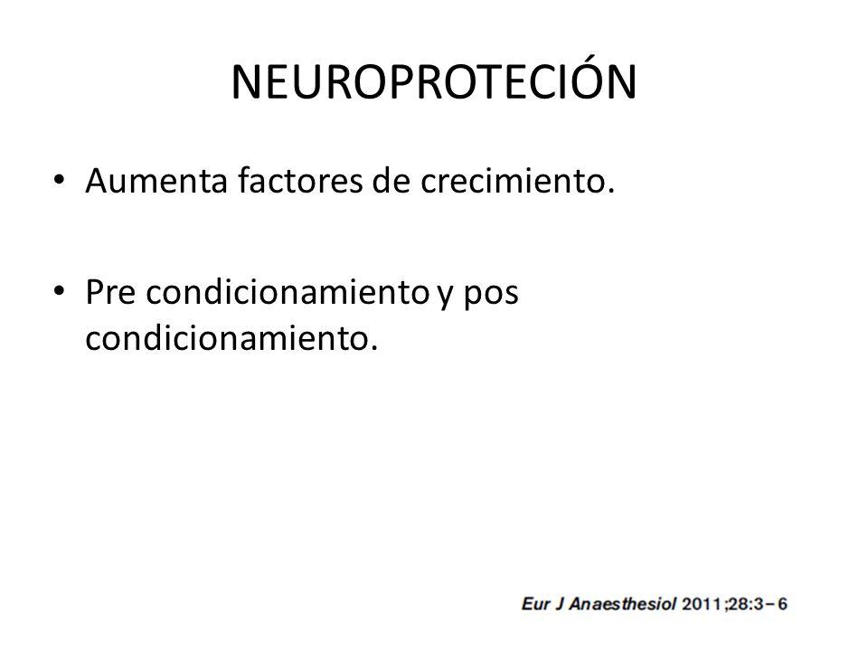 NEUROPROTECIÓN Aumenta factores de crecimiento.