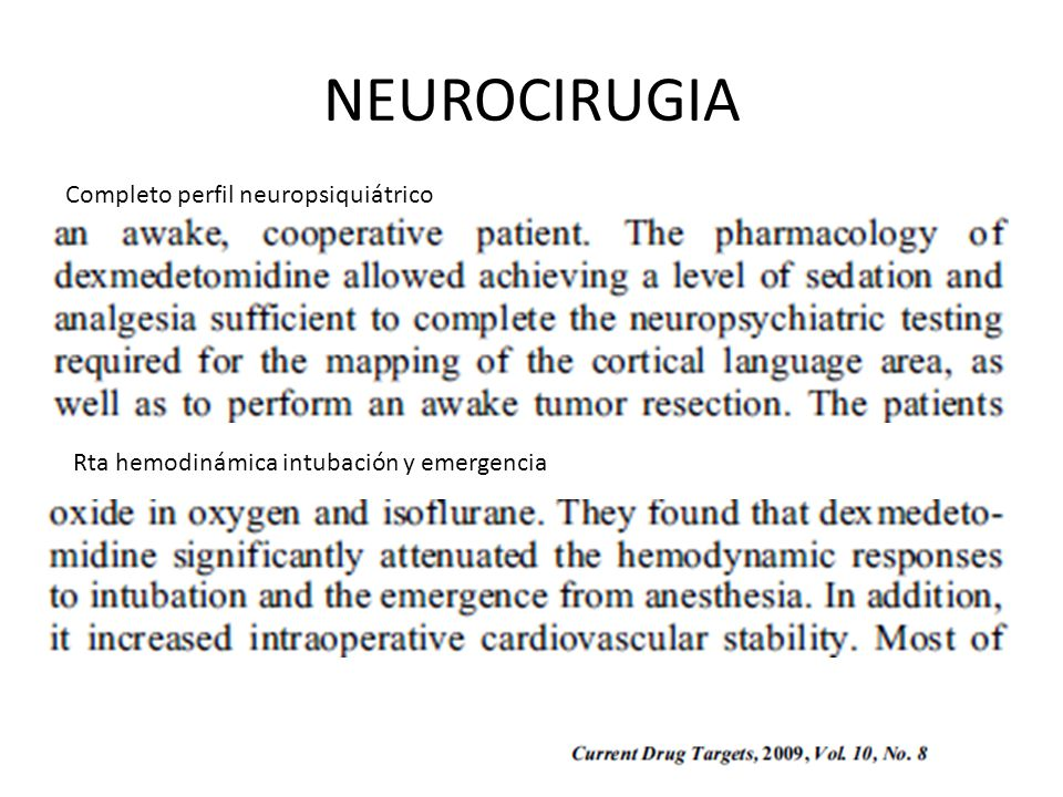 NEUROCIRUGIA Completo perfil neuropsiquiátrico