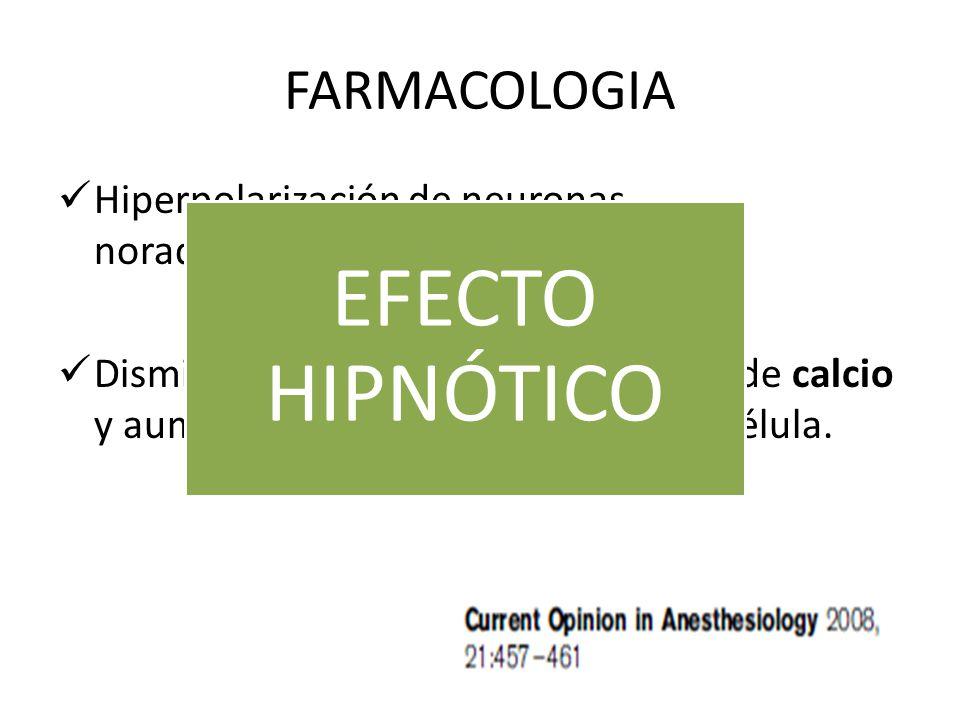 EFECTO HIPNÓTICO FARMACOLOGIA