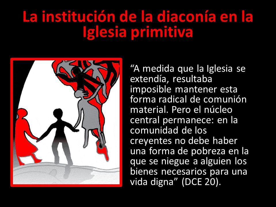 La institución de la diaconía en la Iglesia primitiva