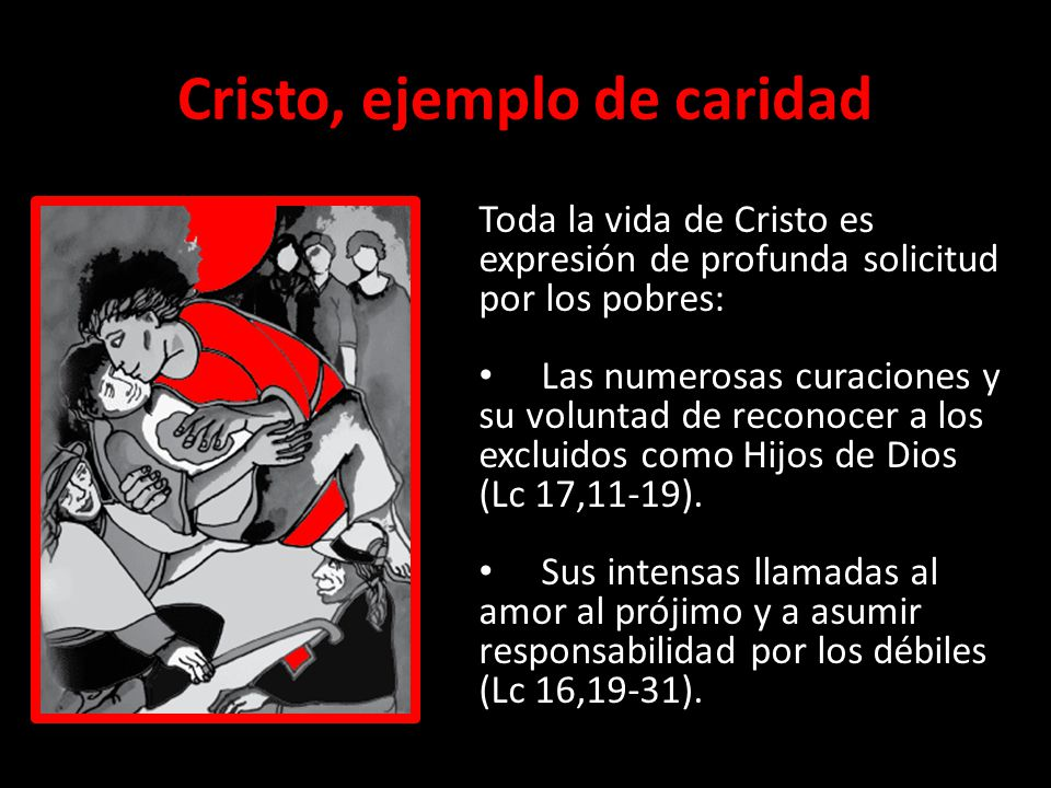 Cristo, ejemplo de caridad