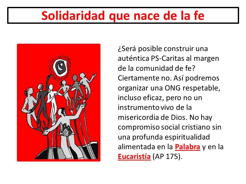 Solidaridad que nace de la fe