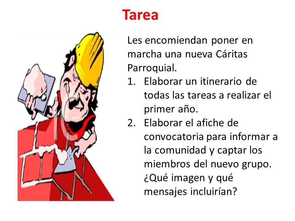 Tarea Les encomiendan poner en marcha una nueva Cáritas Parroquial.
