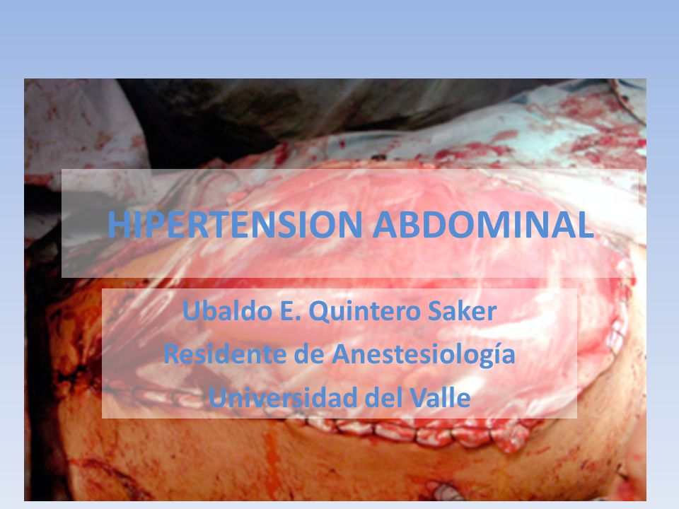 HIPERTENSION ABDOMINAL