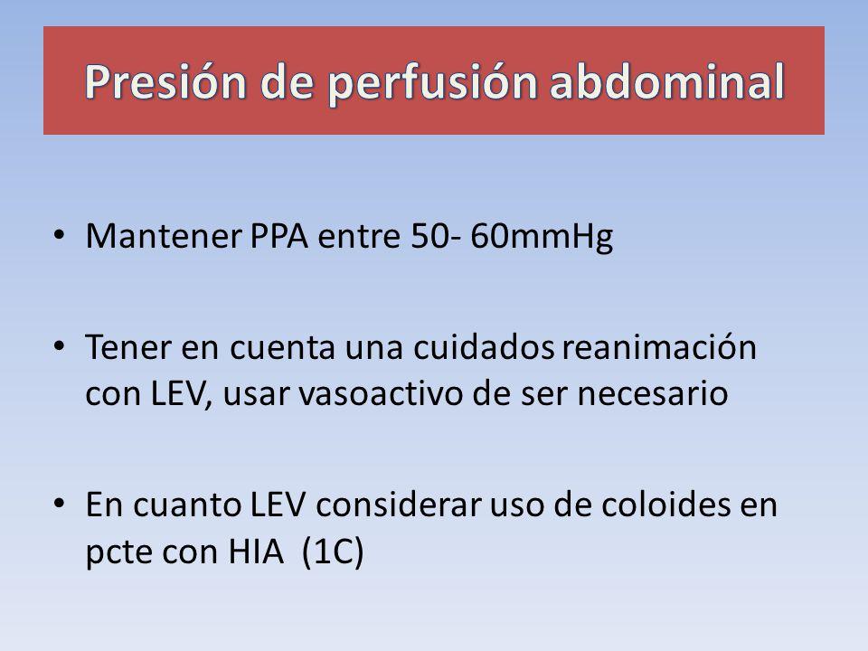 Presión de perfusión abdominal