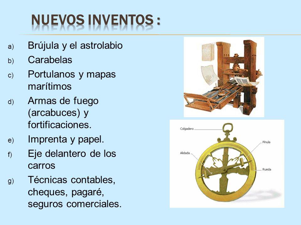 Nuevos Inventos : Brújula y el astrolabio Carabelas
