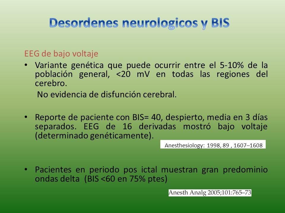 Desordenes neurologicos y BIS