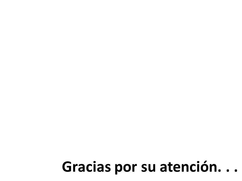 Gracias por su atención. . .
