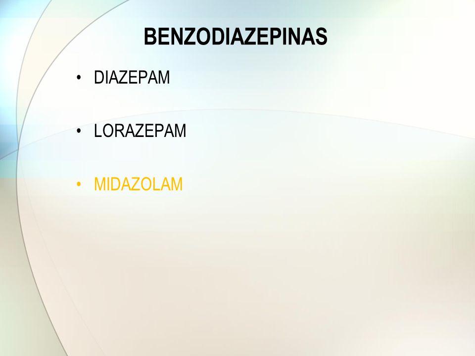 BENZODIAZEPINAS DIAZEPAM LORAZEPAM MIDAZOLAM