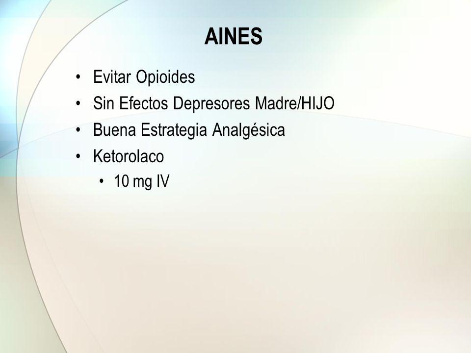 AINES Evitar Opioides Sin Efectos Depresores Madre/HIJO