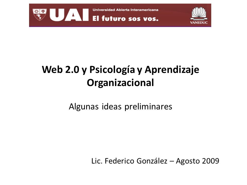 Lic. Federico González – Agosto 2009