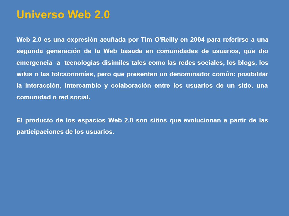 Universo Web 2.0