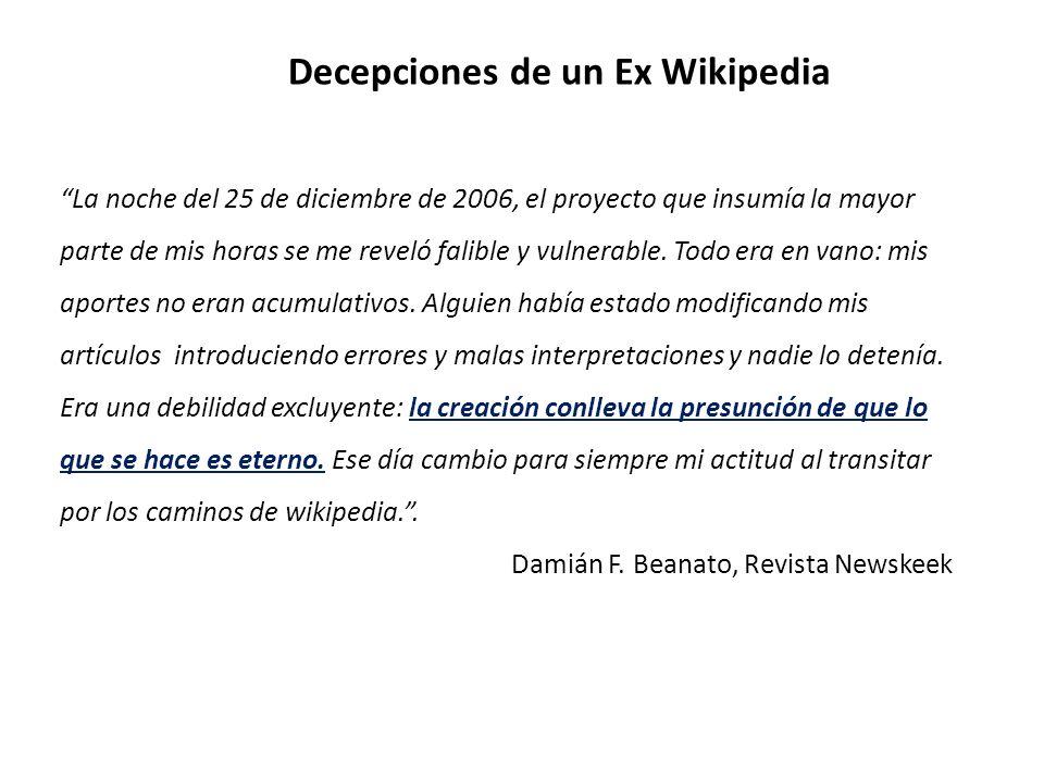 Decepciones de un Ex Wikipedia