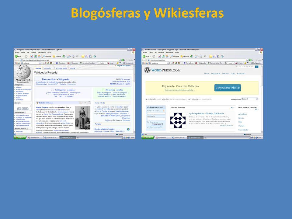 Blogósferas y Wikiesferas