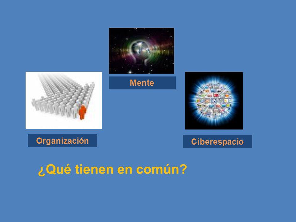 Mente Organización Ciberespacio ¿Qué tienen en común