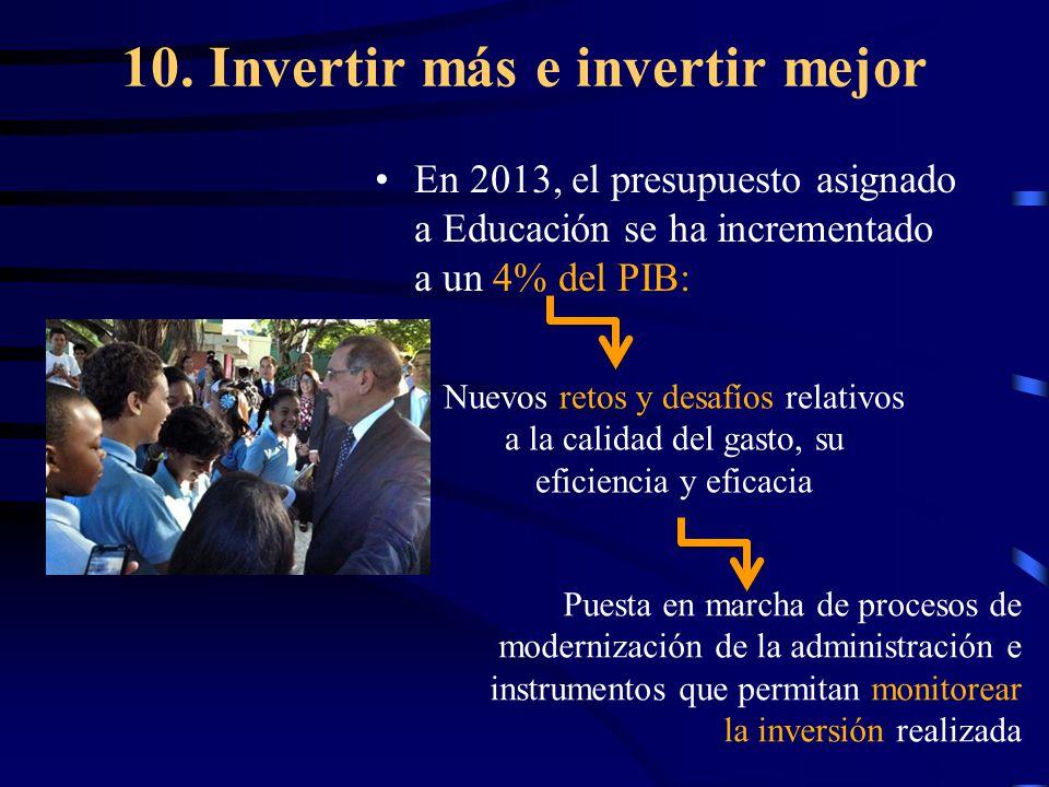 10. Invertir más e invertir mejor