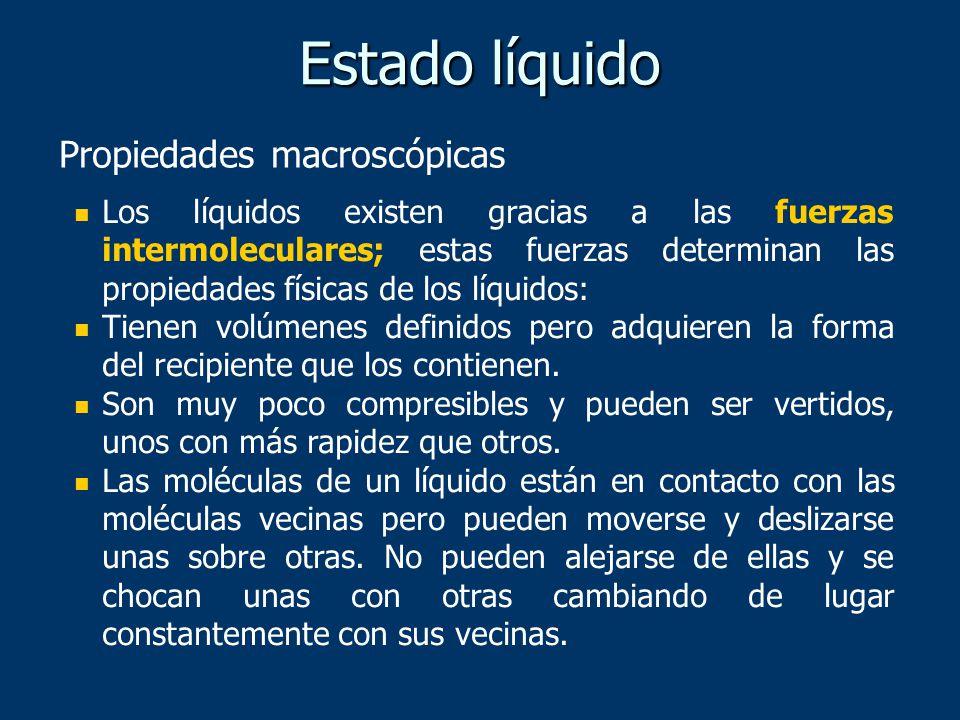 Estado líquido Propiedades macroscópicas