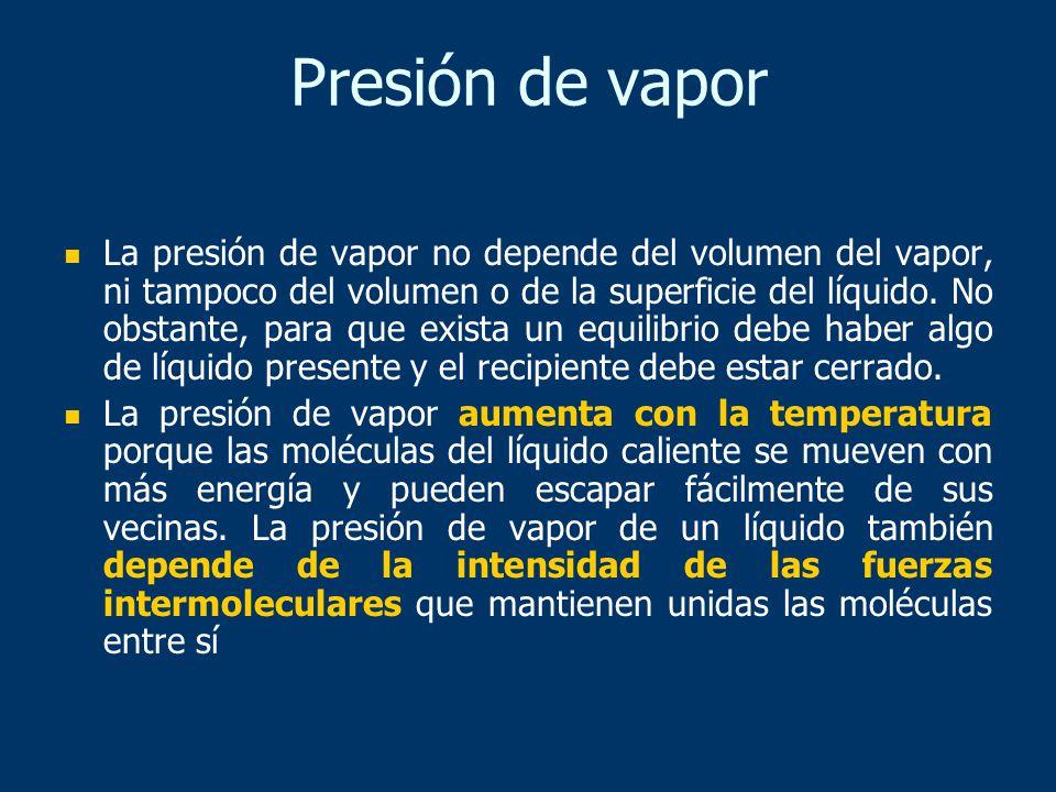Presión de vapor