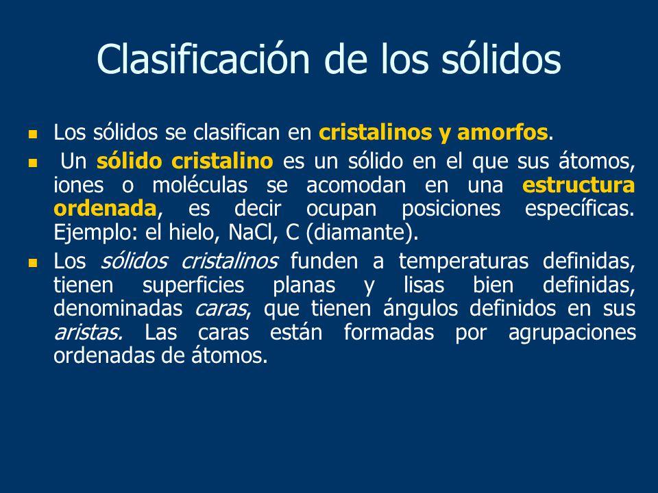 Clasificación de los sólidos