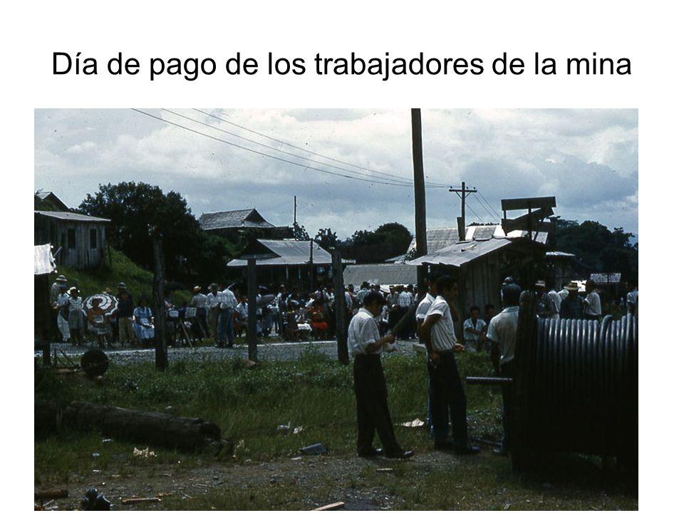 Día de pago de los trabajadores de la mina