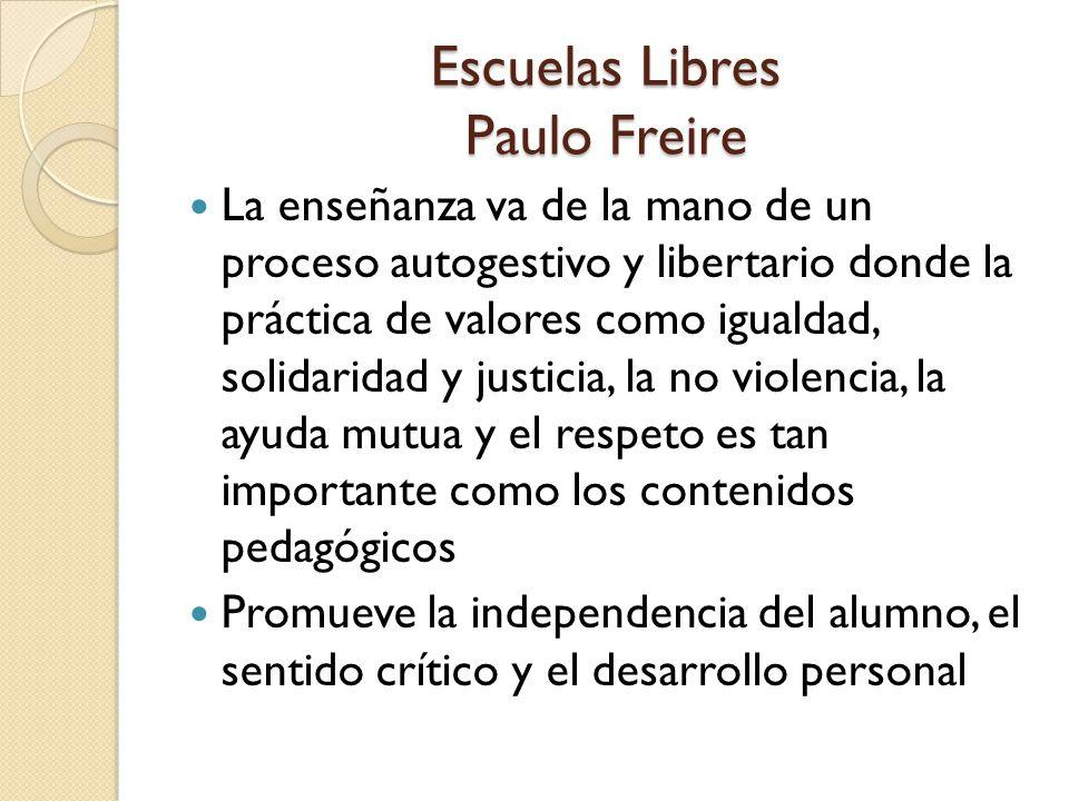 Escuelas Libres Paulo Freire