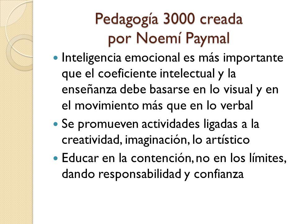 Pedagogía 3000 creada por Noemí Paymal
